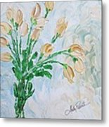 Yellow Roses Metal Print by Molly Roberts