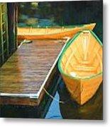 Yellow Rowboats Metal Print