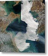 Yellow Sea - Satellite View Metal Print