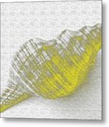 Yellow Seashell Metal Print