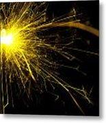 Yellow Sparkle Metal Print