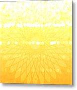 Yellow Spirograph Metal Print