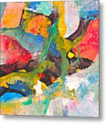 Yellow Spot Metal Print