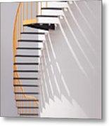 Yellow Staircase Metal Print