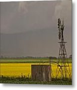 Yellow Storm Metal Print