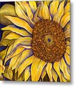 Yellow Sunflower Metal Print by Diane Ferron