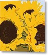 Yellow Sunflowers Metal Print