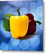 Yellow Sweet Pepper - Square - Textured Metal Print