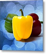 Yellow Sweet Pepper - Textured Metal Print