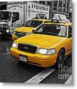 Yellow Taxi Color Pop Metal Print