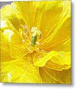 Yellow Tenderness Metal Print