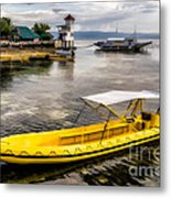 Yellow Tour Boat Metal Print