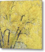 Yellow Trees Metal Print