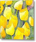 Yellow Tulips 2 Metal Print