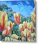 Yellow Tulips Metal Print by Andrei Attila Mezei