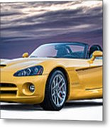Yellow Viper Convertible Metal Print