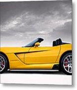Yellow Viper Roadster Metal Print