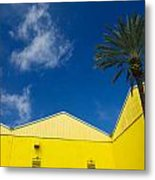 Yellow Warehouse Metal Print