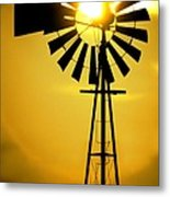 Yellow Wind Metal Print