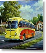 Yelloways Seagull Coach. Metal Print