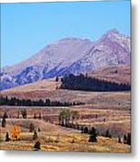 Yellowstone Electric Mountain Metal Print