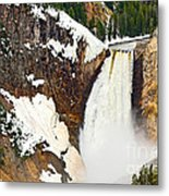 Yellowstone Falls From Lookout Point. Metal Print