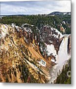 Yellowstone Falls Panorama Metal Print