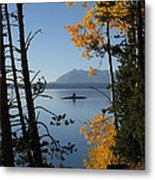 Yellowstone Lake At Dusk Metal Print