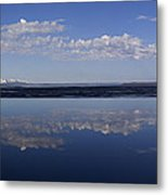 Yellowstone Lake Reflections Metal Print