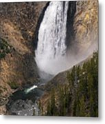 Yellowstone Lower Falls Metal Print