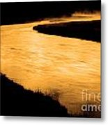 Yellowstone National Park Madison River In Early Morning Metal Print