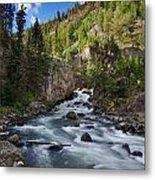 Yellowstone National Park Waterfall Metal Print