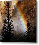 Yellowstone Rainbow Metal Print
