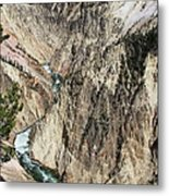 Yellowstone River From Artist Point Metal Print