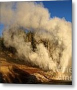 Yellowstone Riverside Eruption Metal Print