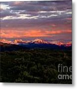 Yellowstone Sunset Metal Print
