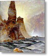Yellowstone Tower Falls Metal Print