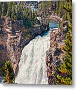 Yellowstone Upper Falls Metal Print