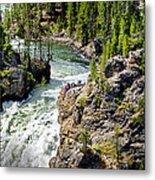 Yellowstone - Upper Falls Metal Print