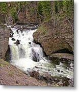 Yellowstone Waterfalls Metal Print