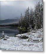 Yellowstone Winter Metal Print by Diane Mitchell