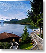 Yes Bay Lodge - The View Metal Print