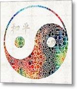 Yin And Yang - Colorful Peace - By Sharon Cummings Metal Print