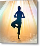 Yoga Balance Metal Print by Bedros Awak