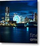 Yokohama Minatomirai At Night Metal Print