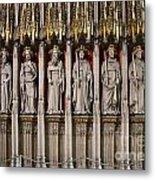 York Minster Statues 6100 Metal Print