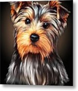 Yorkie Portrait By Spano Metal Print