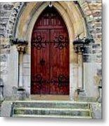 Yorkshire Church Door Metal Print
