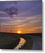 Yorkshire Sunset  Metal Print