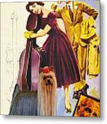 Yorkshire Terrier Art Canvas Print - Love In The Afternoon Movie Poster Metal Print